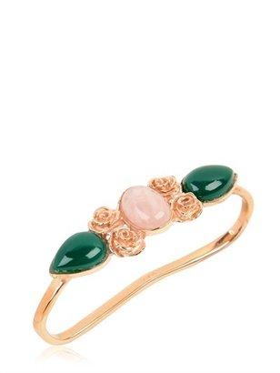 LeiVanKash Haya Onyx & Opalite Hand Bracelet
