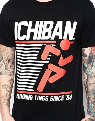 Ichiban T-Shirt with Running Tings Print