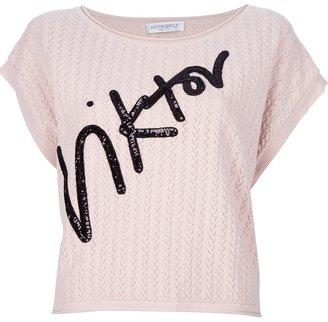 Viktor & Rolf appliqué knit top