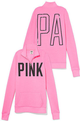 Victoria's Secret PINK Bling Half-Zip Pullover