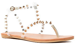 Jeffrey Campbell The Rubicon Sandal in Clear and Gold