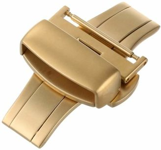 Hadley Roma Hadley-Roma 20mm IP Gold-Plated Push Button Deployant Clasp