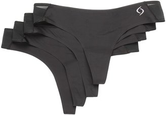 Moving Comfort Workout Thong 4-Pack (Latte) Women's Underwear
