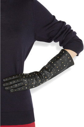 Miu Miu Studded leather gloves