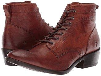 Frye Carson Lace Up (Black Antique Soft Vintage) Cowboy Boots