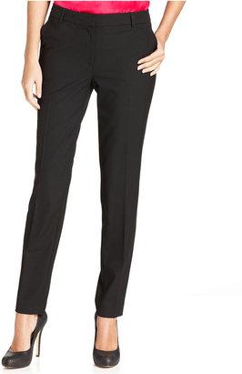 Jones New York Pants, Skinny Pleated Trousers