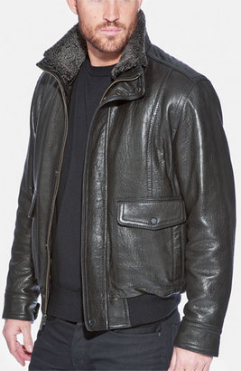 Andrew Marc New York 'Radar' Leather Jacket X-Large