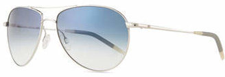 Oliver Peoples Benedict Basic Aviators, Silver/Chrome