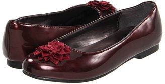 Nina Gill (Youth) (Burgundy Pearlized Patent) - Footwear