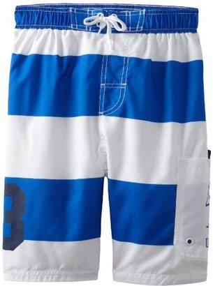 U.S. Polo Assn. U.S. Polo Association Boys 8-20 Wide Striped Swim Trunk