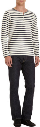 Barneys New York Saint James x Striped Long Sleeve Henley