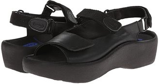 Wolky Jewel (Black Smooth Leather) Women's Hook and Loop Shoes