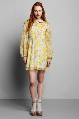 Urban Outfitters Vintage '60s Floral Chiffon Mini Dress