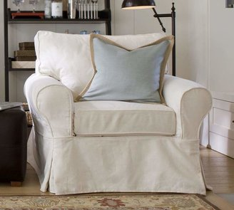Pottery Barn PB Basic Slipcovered Armchair