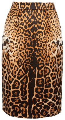 Yves Saint Laurent Leopard print pattern skirt