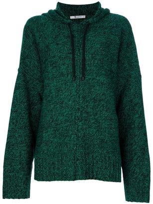 Alexander Wang boxy knit hoodie