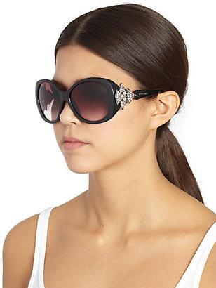 Bulgari BVLGARI Oversized Square Embellished Sunglasses
