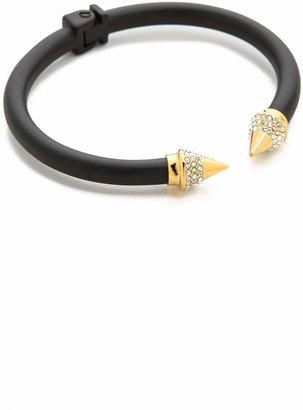 Vita Fede Mini Titan Two Tone Crystal Bracelet $400 thestylecure.com