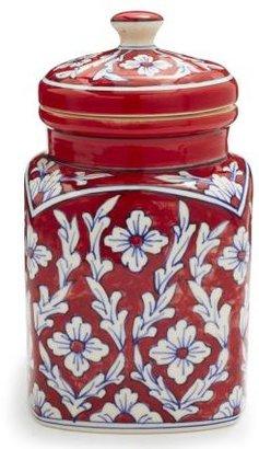 Sur La Table Floral Ceramic Canister, Large