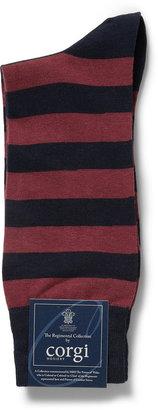 Corgi Welsh Guard's Regiment Striped Cotton-Blend Socks