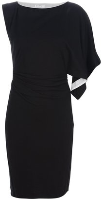 Vionnet asymmetric fitted dress