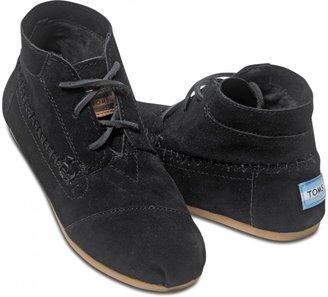 Toms Black Suede Women's Tribal Boots