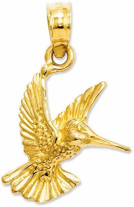 Macy's 14k Gold Charm, Hummingbird Charm