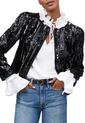 Lafayette 148 New York Scarlet Sequin Embellished Jacket