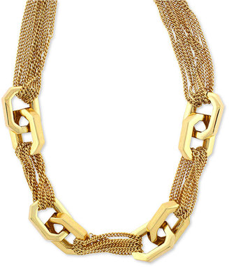 Vince Camuto Necklace, Gold-Tone Multi-Chain Twist Link Necklace