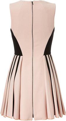 David Koma Colorblock Dress with Pleated Skirt