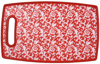 S/2 Red Scrolling Cutting Boards, Large