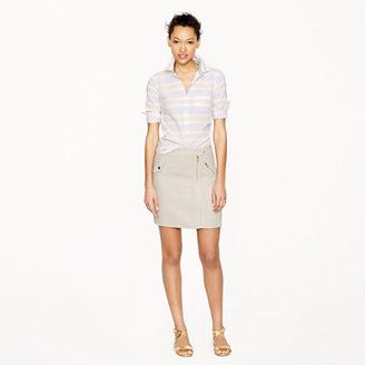 J.Crew Motorcycle-style mini in linen