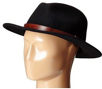 Brixton Messer Fedora (Black) Fedora Hats
