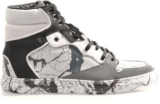 Balenciaga Marbled leather high-top trainers