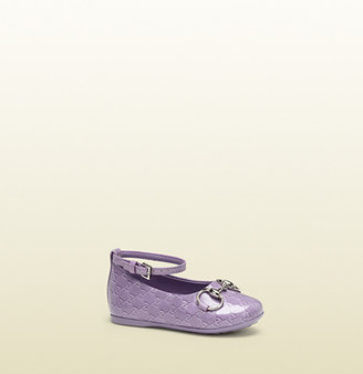Gucci Lilac Microguccissima Leather Ballet Flat With Horsebit