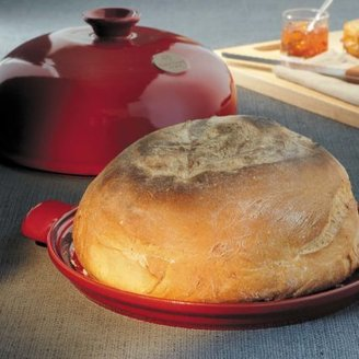 Emile Henry Flame-Top Bread Cloche, Red