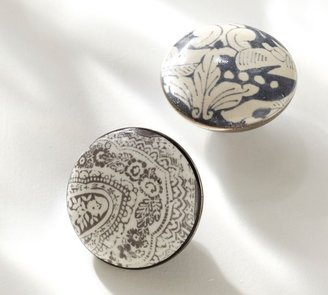 Pottery Barn Printed Ceramic Knobs