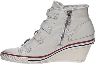 Ash Genial Wedge Sneaker White Leather