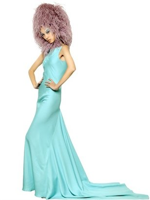 Gareth Pugh Double Crepe Silk Taffeta Long Dress