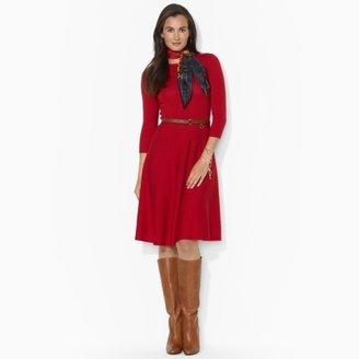 Ralph Lauren Belted Wool Dress