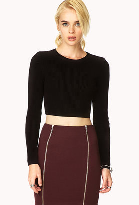 Forever 21 Classic Cropped Sweater