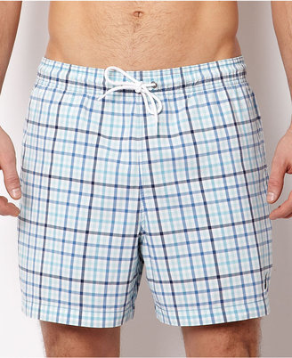 Nautica Swimwear, Mini Plaid Swim Trunks