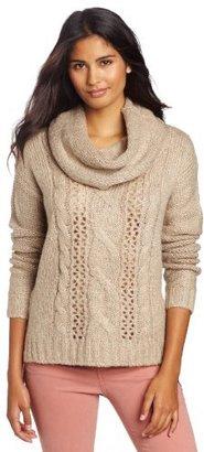 Kensie Women's Fuzzy Mixed Yarn Sweater