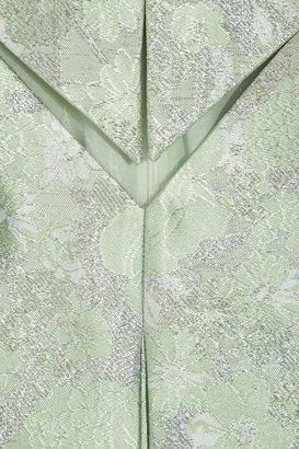 Christopher Kane Metallic silk-blend brocade dress