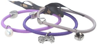 Juicy Couture Set of 3 Girly Chamy Elastics (Grey) - Accessories