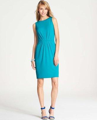 Ann Taylor Tucked Sleeveless Jersey Dress