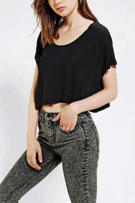 Urban Outfitters Blackstone Cat Eyes Cropped Tee