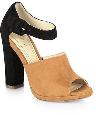 Cole Haan Chelsea Bicolor Suede Ankle-Strap Sandals