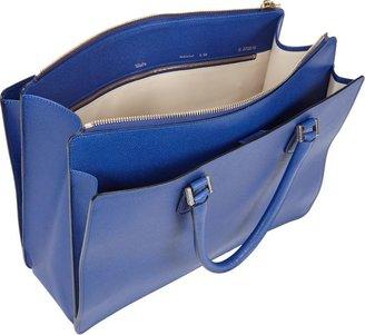 Valextra Madison Working Bag-Blue