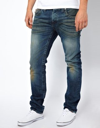 True Religion Jeans Rocco Slim Fit Zip Pocket Rope Wash